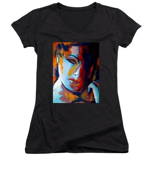 Divided Women's V-Neck T-Shirt (Junior Cut) by Helena Wierzbicki