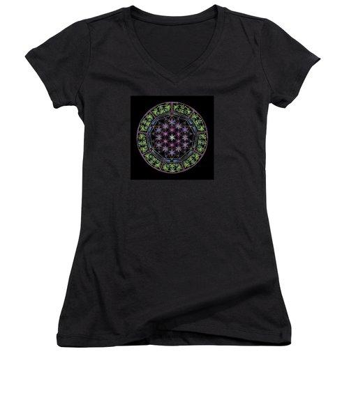 Divine Feminine Energy Women's V-Neck T-Shirt (Junior Cut) by Keiko Katsuta