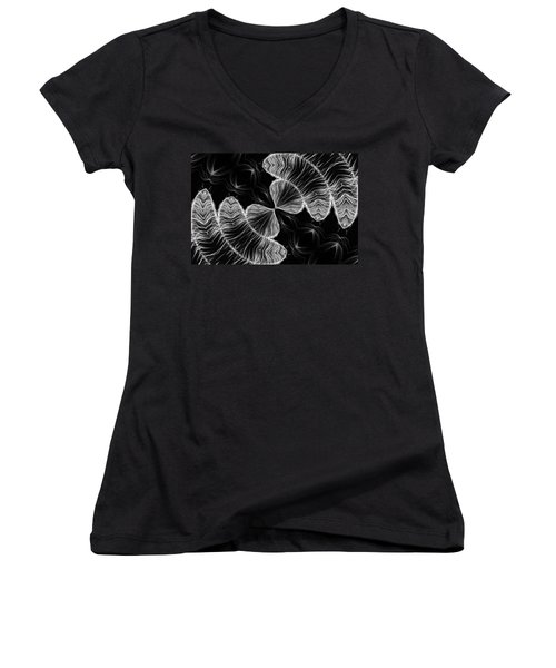 Division Women's V-Neck T-Shirt (Junior Cut) by Kristin Elmquist