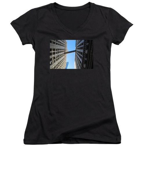 Women's V-Neck T-Shirt (Junior Cut) featuring the photograph Dizzy by Richard Bryce and Family