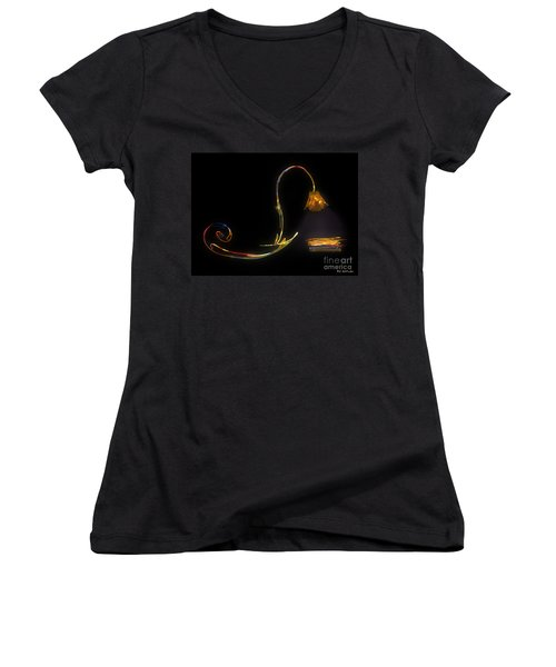 Do Not Go Gentle Women's V-Neck (Athletic Fit)
