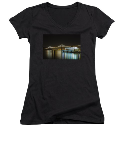 Docks And Bay Lights Women's V-Neck
