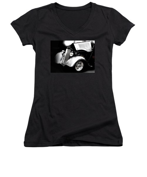 Women's V-Neck T-Shirt (Junior Cut) featuring the photograph Dodge This by Aaron Berg