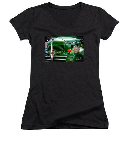 Dodge Truck Women's V-Neck T-Shirt (Junior Cut) by Les Palenik