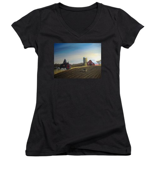 Done For The Day Women's V-Neck T-Shirt