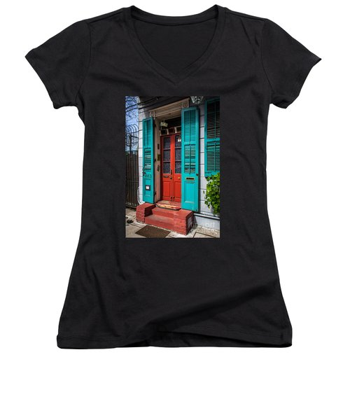 Double Red Door Women's V-Neck T-Shirt