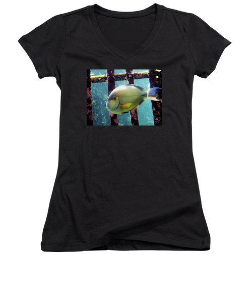 Down At The Shipwreck Women's V-Neck