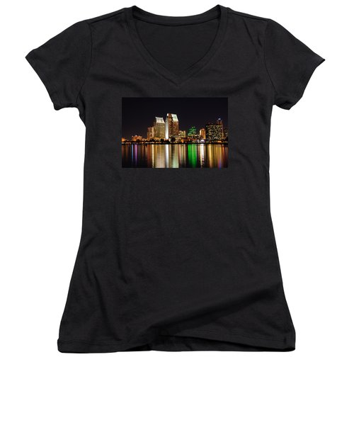 Downtown San Diego Women's V-Neck T-Shirt