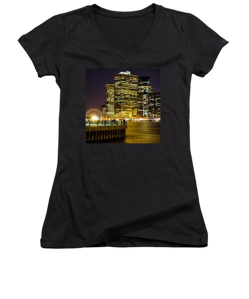 Downtown Lights Women's V-Neck