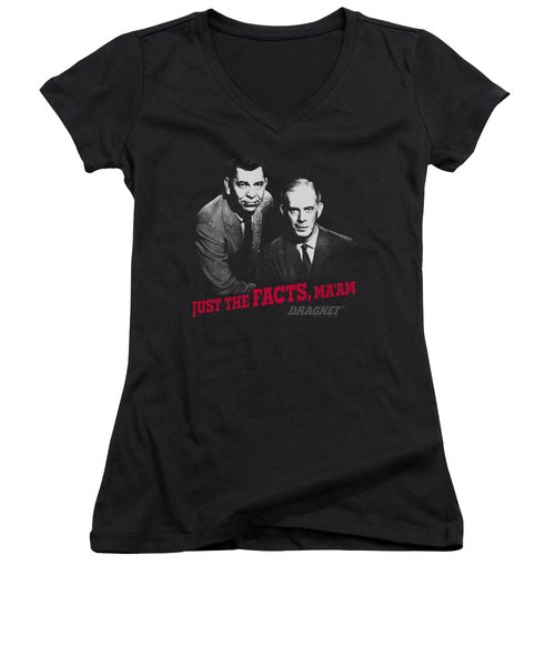 Dragnet - Just The Facts Women's V-Neck T-Shirt
