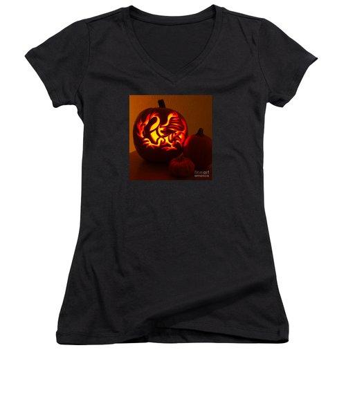 Dragon Light Of Fall Women's V-Neck T-Shirt