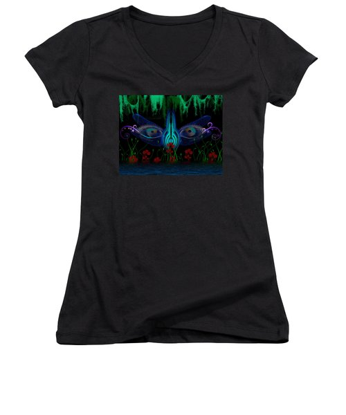 Dragonfly Eyes Series 6 Final Women's V-Neck (Athletic Fit)