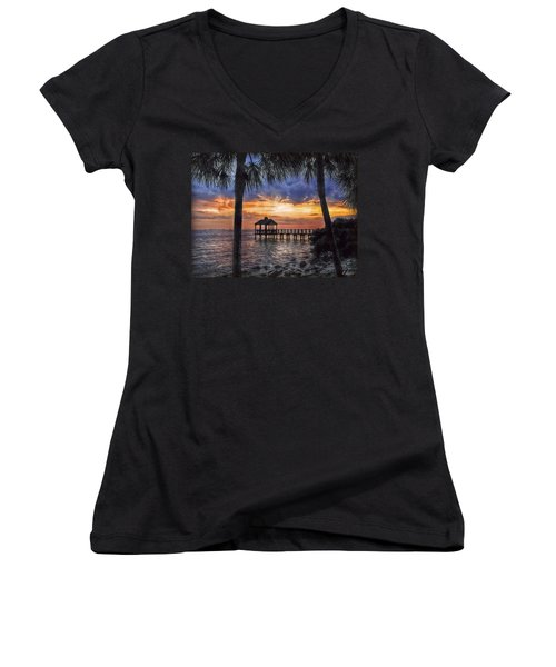 Dream Pier Women's V-Neck T-Shirt (Junior Cut) by Hanny Heim