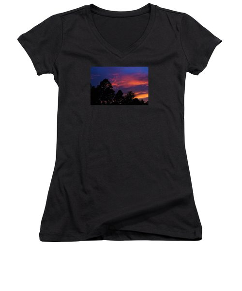 Women's V-Neck T-Shirt (Junior Cut) featuring the photograph Dreaming Of Mobile by Julie Andel