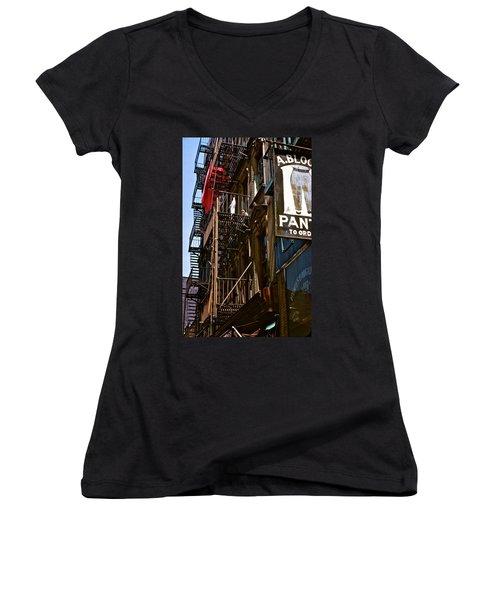 Dreams Ahead Women's V-Neck T-Shirt (Junior Cut) by Ira Shander