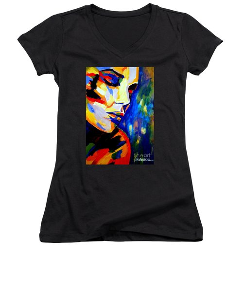 Dreams And Desires Women's V-Neck T-Shirt (Junior Cut) by Helena Wierzbicki