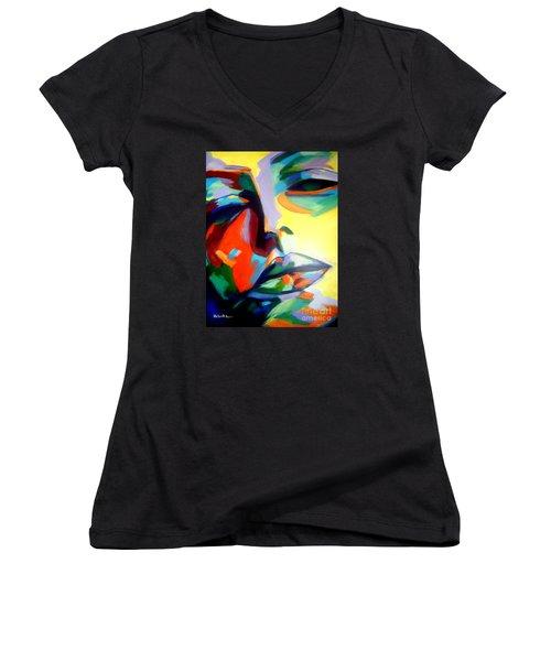 Drifting Into A Dream Women's V-Neck T-Shirt (Junior Cut) by Helena Wierzbicki