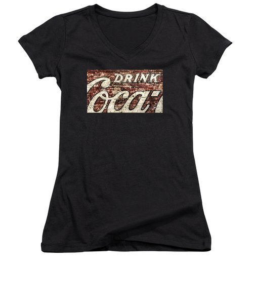 Drink Coca-cola 2 Women's V-Neck (Athletic Fit)