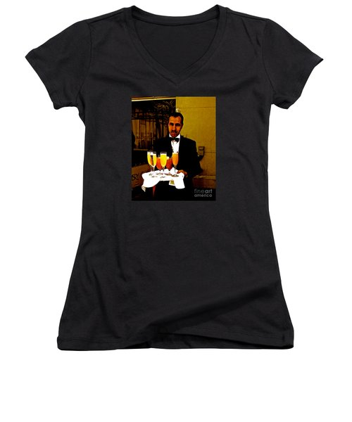 Drinks Anyone? Women's V-Neck (Athletic Fit)