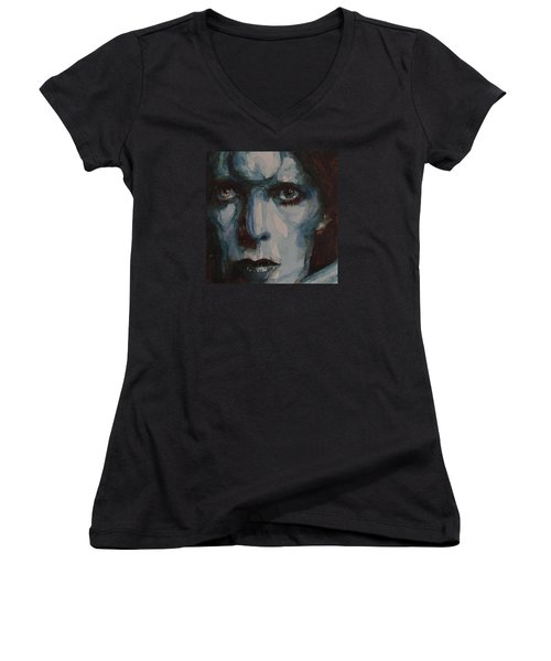 Drive In Saturday Women's V-Neck T-Shirt (Junior Cut) by Paul Lovering