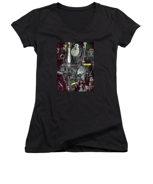 Driving Steam Women's V-Neck T-Shirt
