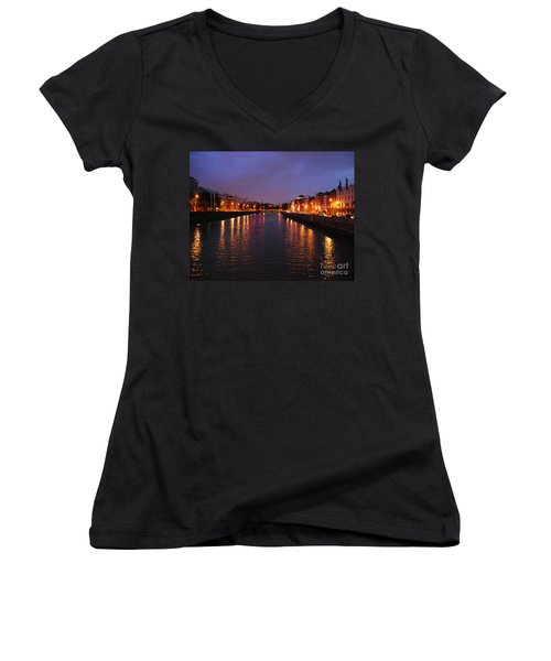 Dublin Nights Women's V-Neck (Athletic Fit)