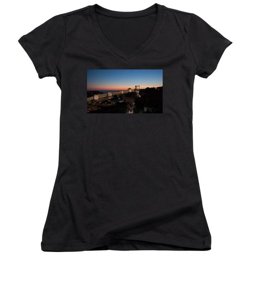 Women's V-Neck T-Shirt (Junior Cut) featuring the photograph Dubrovnik by Silvia Bruno