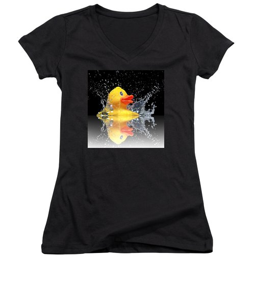 Yellow Duck Women's V-Neck (Athletic Fit)