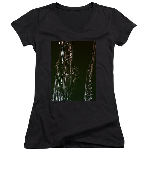 Women's V-Neck T-Shirt (Junior Cut) featuring the photograph Duet by Photographic Arts And Design Studio