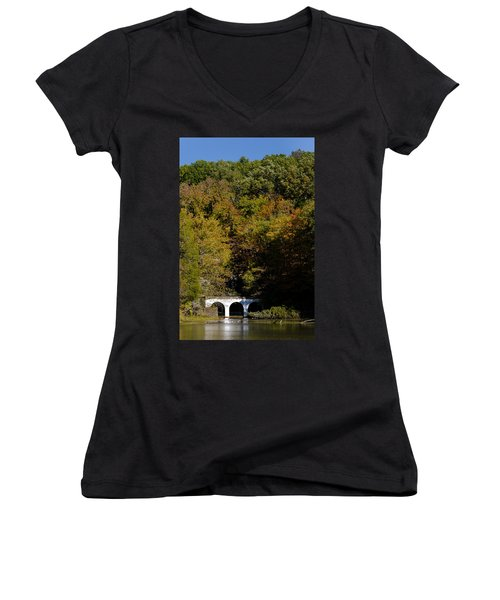 Dunbar Cave And Swan Lake Women's V-Neck