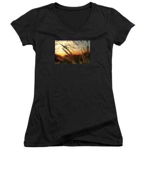 Dune Women's V-Neck T-Shirt (Junior Cut) by Laura Fasulo