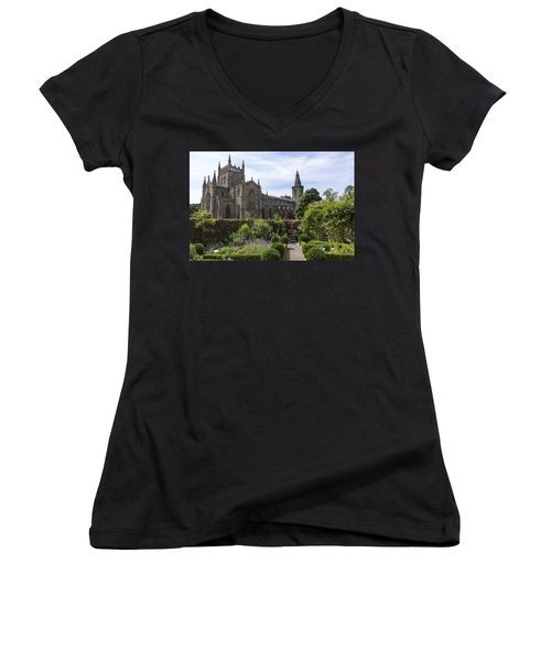Dunfermline Abbey From The Abbot House Women's V-Neck T-Shirt