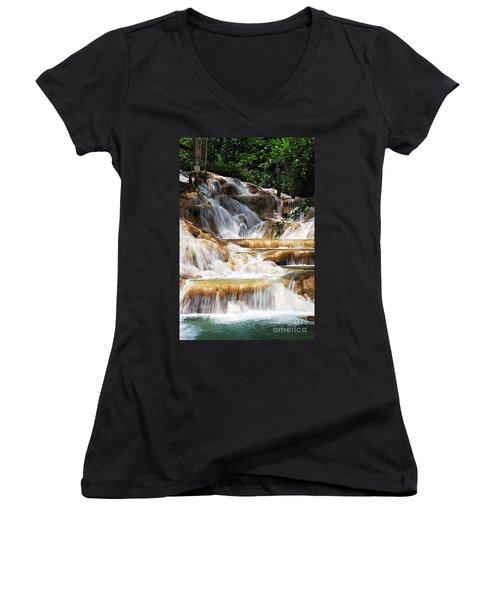 Dunn Falls _ Women's V-Neck T-Shirt