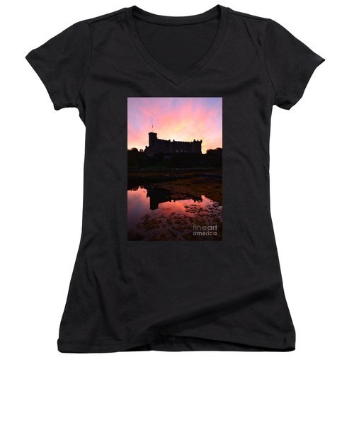 Dunvegan Castle At Dawn Women's V-Neck T-Shirt