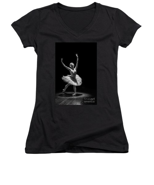 Dying Swan 6. Women's V-Neck (Athletic Fit)