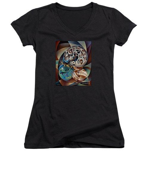 Dynamic Still Il Women's V-Neck T-Shirt