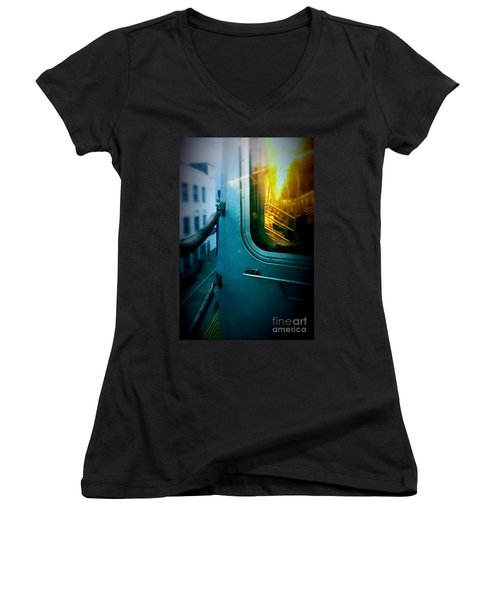 Early Morning Commute Women's V-Neck T-Shirt
