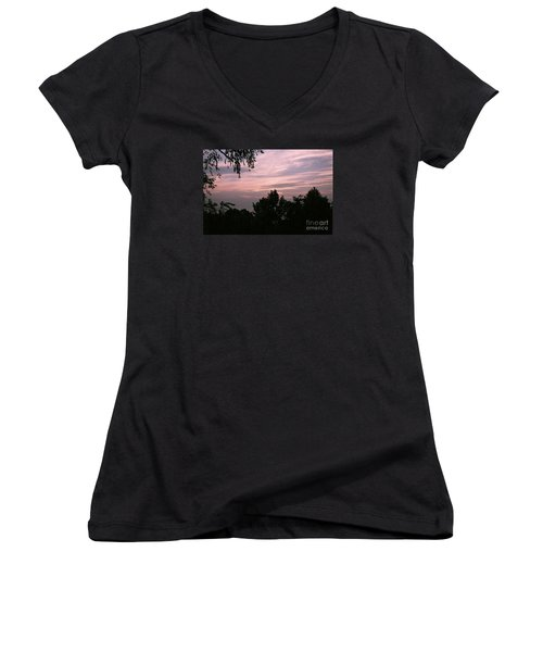 Early Sunrise In Central Illinois Women's V-Neck (Athletic Fit)