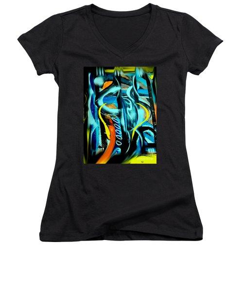 Imagination -  Women's V-Neck T-Shirt (Junior Cut) by Yul Olaivar