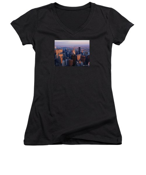 East Coast Wonder Aerial View Women's V-Neck T-Shirt