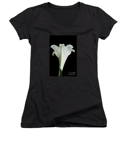 Easter Lily Women's V-Neck (Athletic Fit)