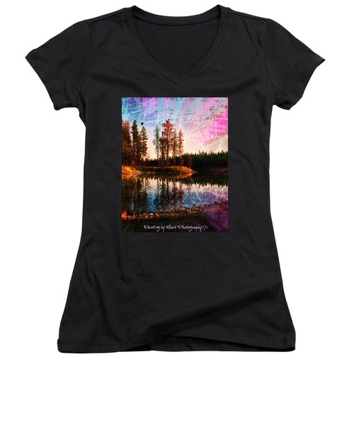 Echo Lake Women's V-Neck T-Shirt