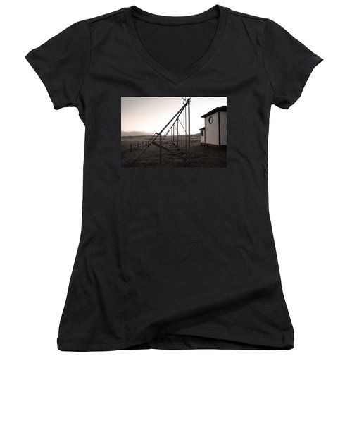 Women's V-Neck T-Shirt (Junior Cut) featuring the photograph Echoes Of Laughter by Jim Garrison