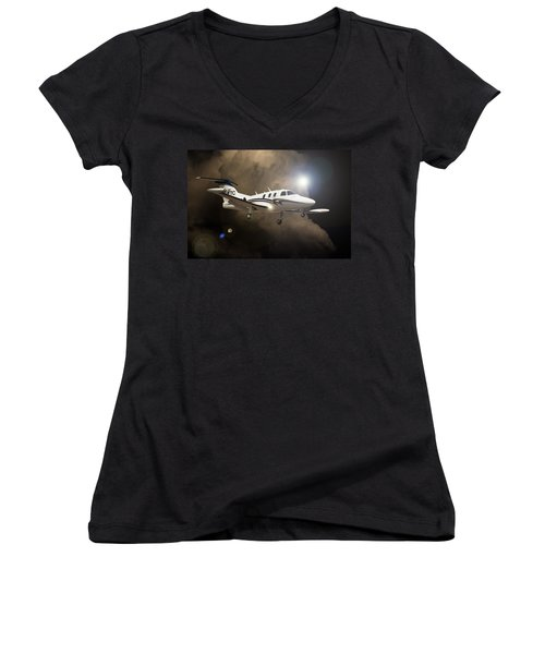 Eclipse Landing Women's V-Neck (Athletic Fit)