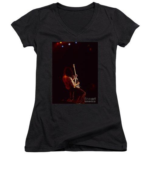 Eddie Van Halen - Van Halen At The Oakland Coliseum 12-2-1978 Rare Unreleased Women's V-Neck (Athletic Fit)