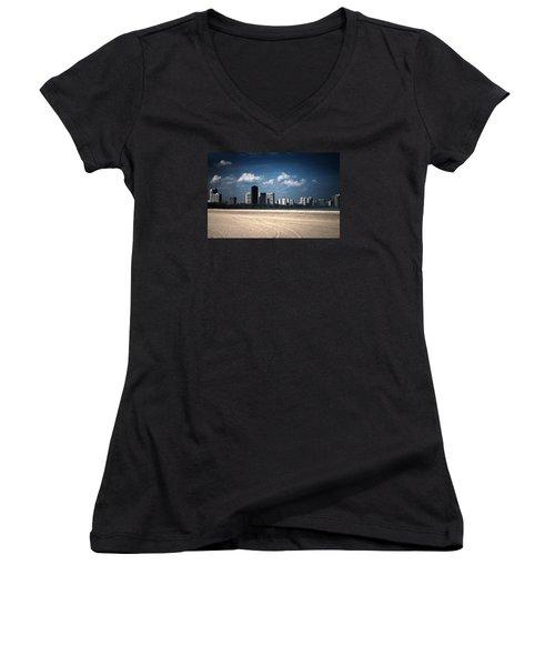 Edgewater Women's V-Neck T-Shirt (Junior Cut) by Milena Ilieva