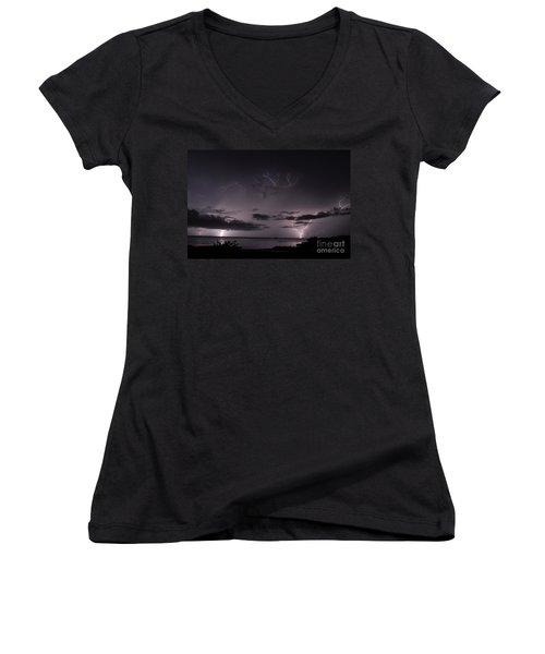 Egg Shell Women's V-Neck T-Shirt (Junior Cut)