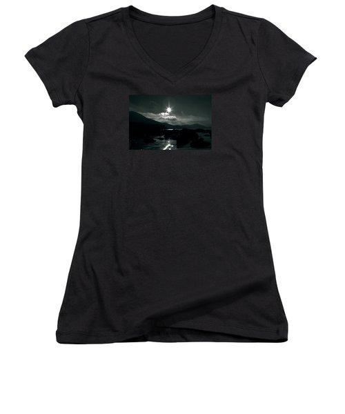 Eight Pointed Star  Women's V-Neck T-Shirt (Junior Cut) by Aidan Moran
