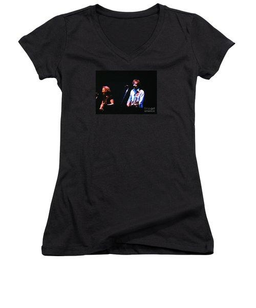 The Grateful Dead 1980 Capitol Theatre Women's V-Neck T-Shirt (Junior Cut) by Susan Carella
