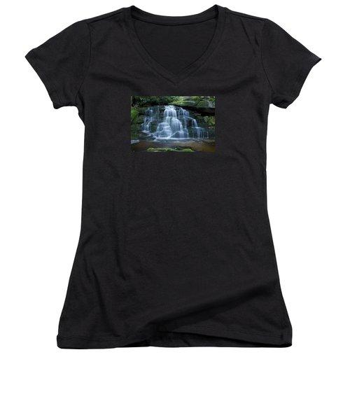 Elakala Falls Number 2 Women's V-Neck T-Shirt